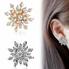 Fashion Jewelry Newly Bling Silver Ladies Snowflake Diamante Crystal Earrings