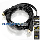 HDMI Kabel 1.4b Schwarz Flach Flat Slim Triple XD Technologie HDMI Movie LCD
