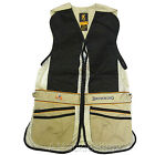 Browning Team Ambidextrous Beige Mens Shooting Vest - Skeet / Sporting / Trap