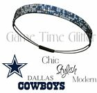 NWT Dallas Cowboys Team Color Rhinestone Headband Cute w/ Your Game Day Jersey