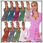 Sexy Women's Knitted Sweater Ladies Casual Jumper Dress One Size 8,10,12,14 UK