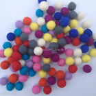 1.5cm Handmade 100% Wool Multicolor Felt Ball Beads Pom Pom DIY Craft Supplies