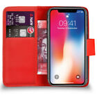 Flip Book Wallet Leather Case Cover For Apple iPhone X 2017 + Free Screen Guard