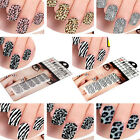 US Stock 12 Style Nail Sticker Foils Design Decoration Decals Red Base Leopard