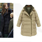 Womens Hooded Winter Jacket Parka Military Duck Down Jacket Coat Loose Plus size