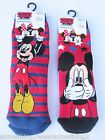DISNEY MICKEY MOUSE SLIPPER SOCKS BOYS/KIDS UK 3-3.5 6-8 9-12 RED DESIGN CHOICE