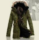 NEW Fashion Mens Outwear Winter Jacket Fur Collar Hood Thick Warm Parka Coat