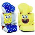 SpongeBob Squarepants Car Seat for ages 4 to 11. Yellow or Blue Options