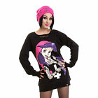 CUPCAKE CULT SINISTER CULT CREW TOP LADIES BLACK ARIEL LITTLE MERMAID URSULA NEW
