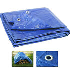 Blue Tarp Reinforced All Weather Resistant Strong Poly Tarpaulin Tarps