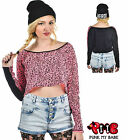 Too Fast Wasted Pink Leopard Animal Print Crop Top Kitsch Punk Cute Tee Shirt
