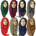 ****STUDDED MAXI PLEATED LARGE HIJAB SCARF SHAWL ABAYA SARONG****
