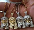 MICRO MINI GOLD HIP HOP JESUS PIECE PENDANT AND CHAIN  image