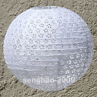 "BULK-White Hollow Out 10""12""14""16"" Paper Lanterns Home Party Wedding Decoration"