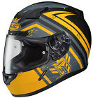 HJC CL-17 Mech Hunter Motorcycle Helmet Yellow All Sizes