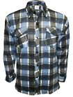 New Men's Lumberjack Fleece Check Casual Warm Work Shirts Tops Size M to 3XL