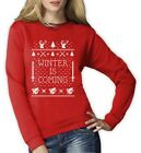Winter Is Coming Ugly Christmas Sweater Women Sweatshirt Dragons House Thrones