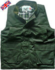 Mens Wax Gilet Bodywarmer Cotton Oilskin Jacket Waistcoat Vest Fishing Hunting
