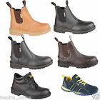 BRAND NEW MENS LEATHER WORK SAFETY ANKLE BOOTS STEEL TOE CAP TRAINER HIKER SHOES