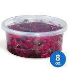 8oz Plastic Clear Round Deli Food/Soup Storage Container Cups with Lids