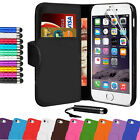Book Flip Wallet Leather Case Cover Pouch For iPhone 6 Plus 5.5 Free LCD Screen
