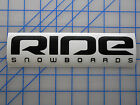 "Ride Snowboards Sticker Decal 7.5"" 11"" Bindings Boots Pants Jacket Bag Wide Park"