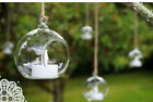 4PCS HANGING GLASS BAUBLE TEALIGHT CANDLE GARDEN DECORATION CHRISTMAS TREE BALLS