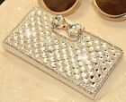 Bling Rhinestone Flip Wallet Leather Case for iPhone 6, 6 Plus