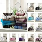 SUPER SOFT LUXURY PINTUCK EGYPTION 600 GSM CHRISTMAS GIFT TOWELS BATH SHEET SET