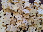 6, 50 or 200 Small, 13mm or 18mm, Wooden Star Buttons (B02)
