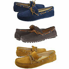 Cole Haan Mens Grant Canoe Camp Moc Blue Gray Tan Slip-On Drivers Driving Shoes
