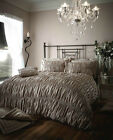 Luxury Oyster Crinkle Beauford Design Duvet Set Quilt Cover Set Come In 4 Sizes
