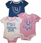 Indianapolis Cots GIRLS 3pc Creeper Set Pink Blue Leopard Infant Baby