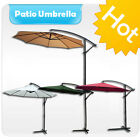 10 ft Outdoor Patio Yard Umbrella Cantilever Pole Sun Shade Canopy With Stander