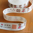 2 Yards: Printed Fabric Ribbon/ Ballet Girls & Cute Girly Patterns Sewing Craft