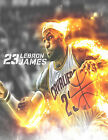 LEBRON JAMES on fire basketball cavaliers cleveland #23 photo glossy t-shirt