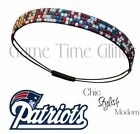 New England Patriots Team Color Womens Bling Rhinestone Headband Cute w Jersey