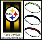 LOT of 3 Steelers Team Color Womens Bling Rhinestone Headbands Wear w/ Jersey