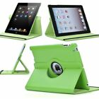 360 Degree Rotating Pu Leather Case Cover Stand for Apple Ipad 4th Gen 3rd 2 3 4