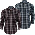 Mens Check Shirt Threadbare 'Gareth' Button Down Collar Cotton