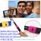 Extendable Wired Monopod Remote Selfie Stick Wireless Remote Mobile Phone Holder