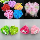 9pcs Bath Body Flower Heart Favor Soap Rose Petal Wedding Decoration Party Gift