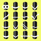 NEW French Manicure Nail Art Tips Tape Sticker Guide Stencil DIY Hot Sale
