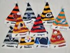 NFL Forever Collectibles Holiday Dangle Striped Santa Hat on eBay