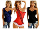 Sexy Lace Up Corset Top Bustier 3 Colors Rose Body Shap Corset Bustier S-2XL G2