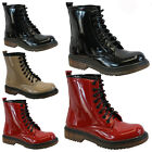 LADIES VINTAGE RETRO PUNK WOMENS GOTH LACE UP COMBAT ANKLE BOOTS SHOES DOC SIZE