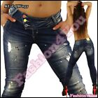 Ladies Jeans Sexy Women's Skinny Slim Ripped Denim Trousers Size 6,8,10,12 UK