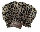HYDREA ECO-FRIENDLY PEVA SHOWER CAP ~ Glamorous Leopard Print ~ Hair Treatments