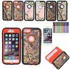 "New Protective Camo Style Hybrid Case for iPhone 6 4.7"" Built In Screen       DA"