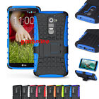 For LG Optimus G2 D802 Hybrid Impact Armor Rugged Hard Stand Case Cover